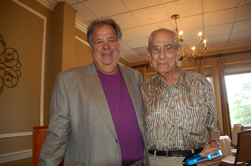 CWONJ President Mike Conte presented Gerry Muscio with a Lifetime Achievement Award at the August 3 golf outing in Union at Suburban Golf Club.