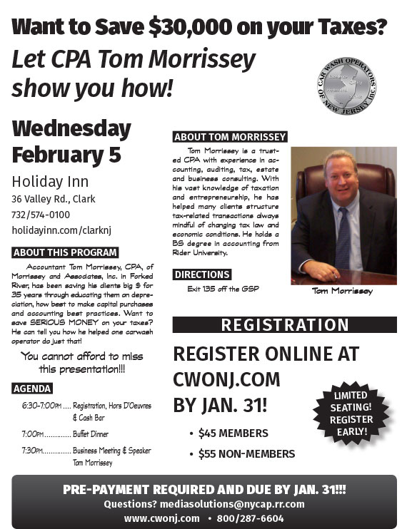 Want to Save $ On Your Taxes? Let Tom Morrissey show you how he helped one operator save $30,000!