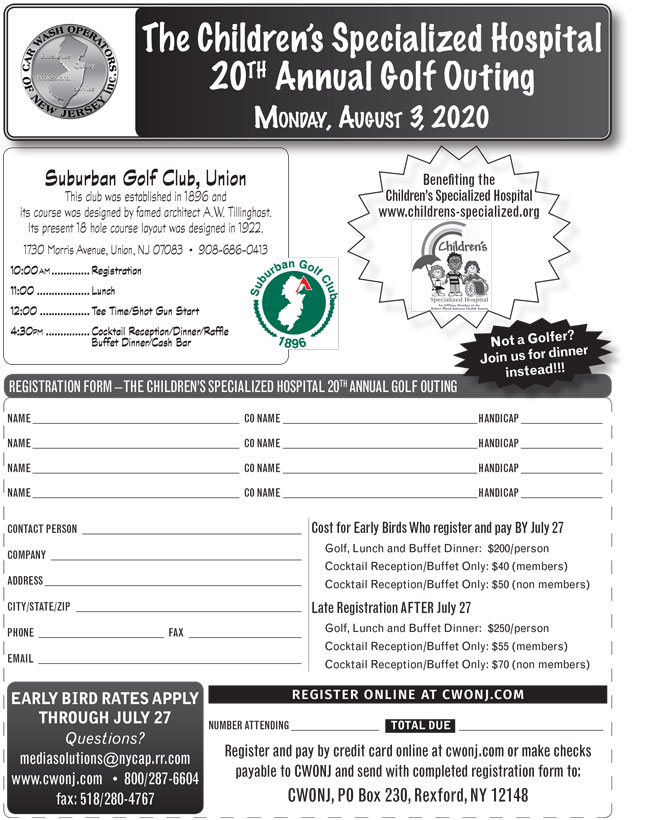 The Children's Specialized Hospital 20TH Annual Golf Outing